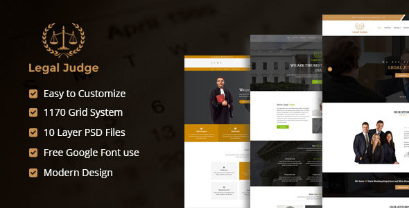 Legal Judge PSD Templates