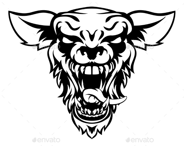 Wolf or Werewolf Mascot - Animals Characters