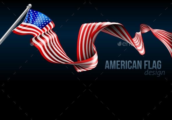 American Flag Design - Abstract Conceptual