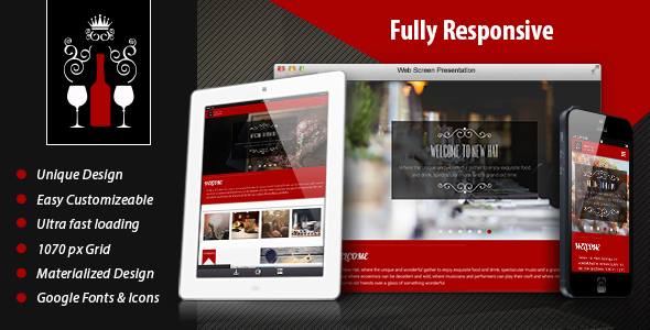 Image of New Hat - Bar & Restaurant HTML Template