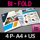 Stationery Products Catalog Bi- Fold Brochure Template