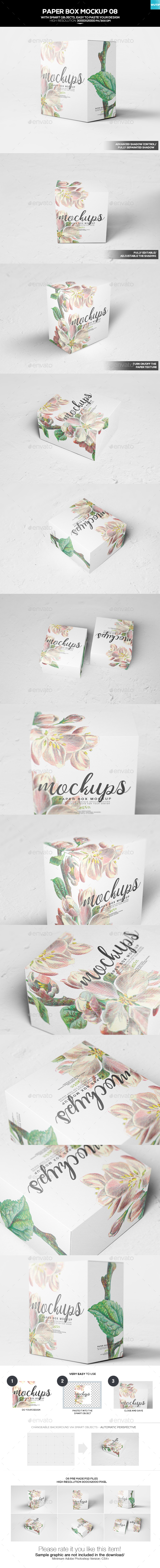 Paper Box Mockup 08 - Miscellaneous Packaging