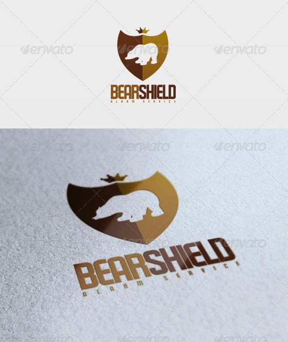 Bear Shield Logo - Animals Logo Templates