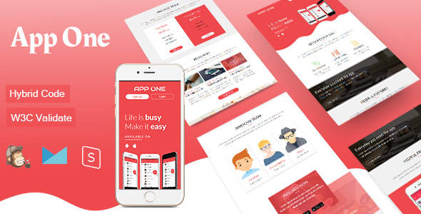 Image of App One - Mobile App Email Template