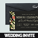 Ticket Botanical Wedding Invitation Card - GraphicRiver Item for Sale