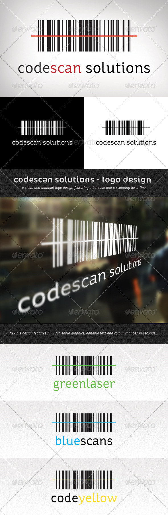 Codescan Solutions Logo Design - Abstract Logo Templates