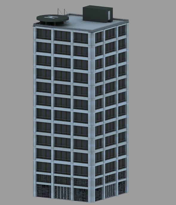 Modern office building - 3DOcean Item for Sale