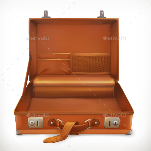 Open Suitcase - Travel Conceptual