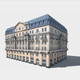Neoclassical Hotel Low Poly - 3DOcean Item for Sale