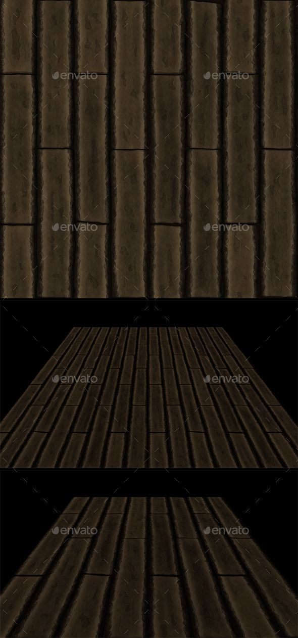 Wooden planks tile - 3DOcean Item for Sale