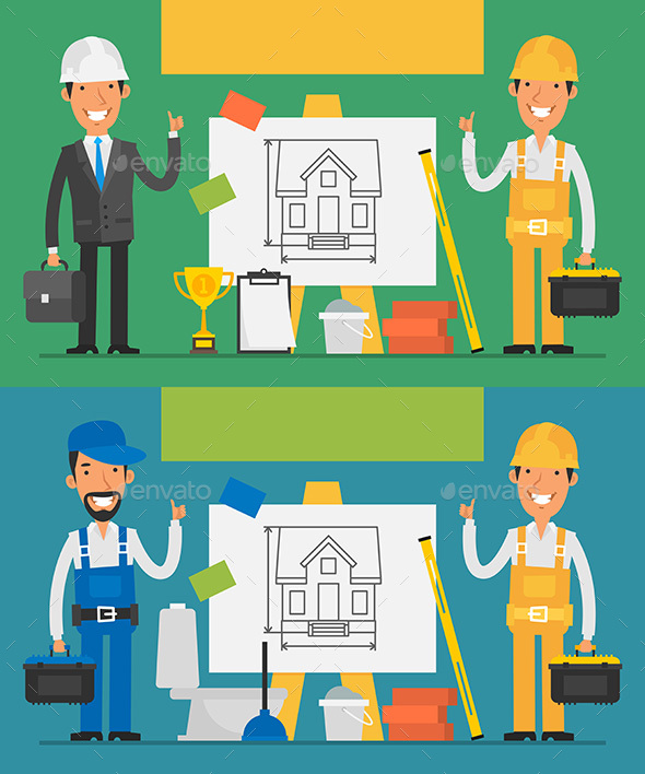 Building Concept Set Objects and Working People Part 2 - Concepts Business