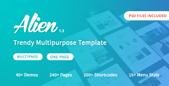 Alien - Responsive Multipurpose HTML5 Template - Corporate Site Templates