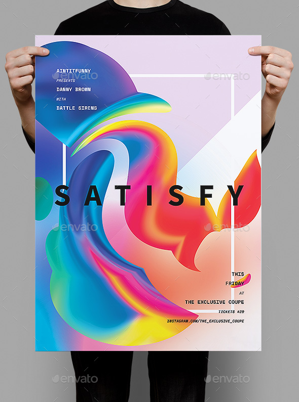 Satisfy Poster / Flyer - Clubs & Parties Events