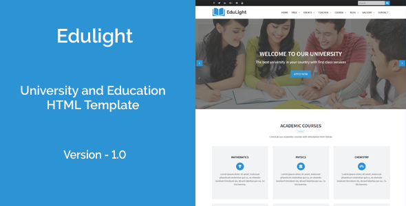 EduLight - University and Education HTML5 Template