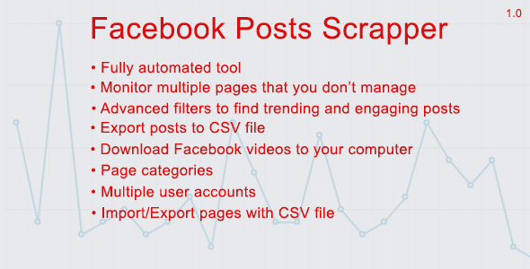 Facebook Posts Scrapper - CodeCanyon Item for Sale