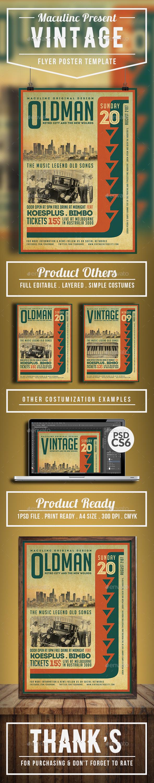 Vintage Flyer/Poster Vol.5 - Concerts Events