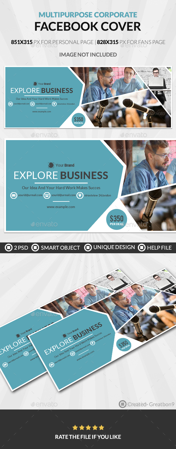 Multipurpose Corporate Facebook Cover - Facebook Timeline Covers Social Media