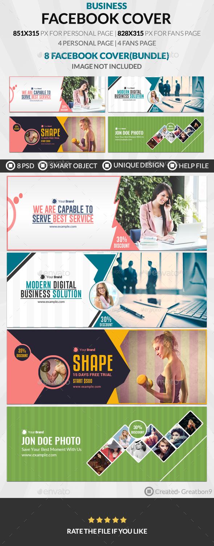 Facebook Cover Bundle(vol : 6) - 4 Design - Facebook Timeline Covers Social Media