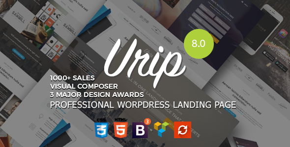 Urip - Professional WordPress Landing Page Theme - Marketing Corporate