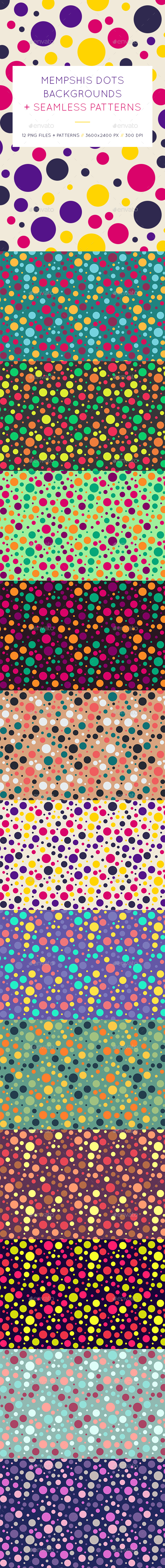 Memphis Dots Backgrounds - Patterns Backgrounds