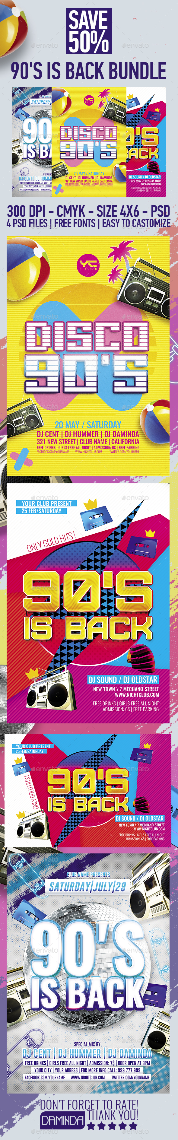90's is back Bundle - Clubs & Parties Events