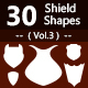 30 Shields Photoshop Vector Custom Shapes ( Vol.3 ) - GraphicRiver Item for Sale