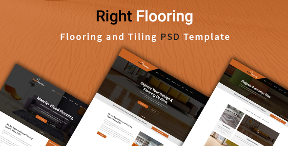 Flooring and Tiling PSD Template - Corporate PSD Templates