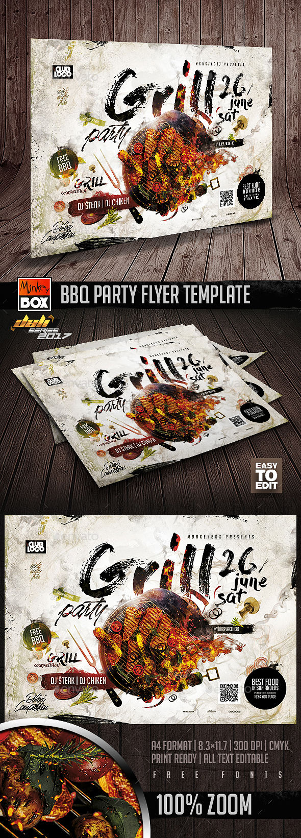 BBQ Party Flyer Template - Flyers Print Templates