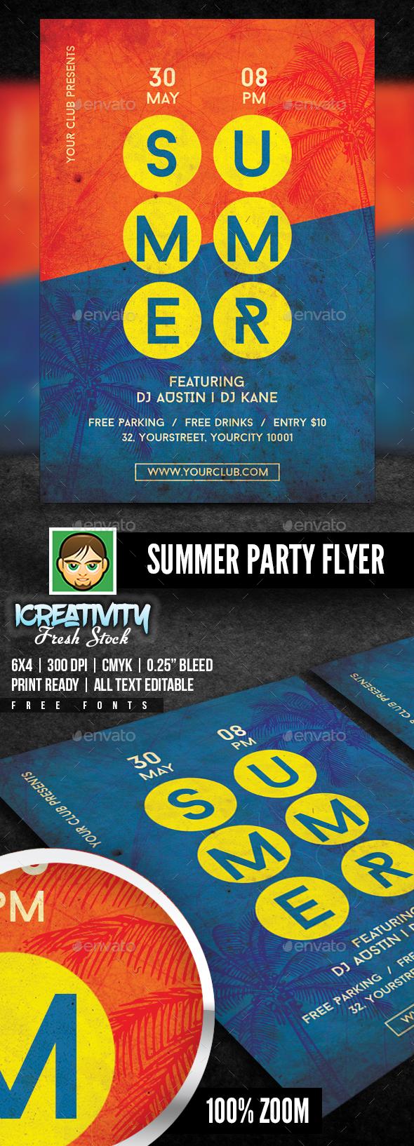 Summer Party Flyer - Flyers Print Templates