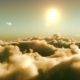 Flight Over Clouds, Sunset Time - VideoHive Item for Sale