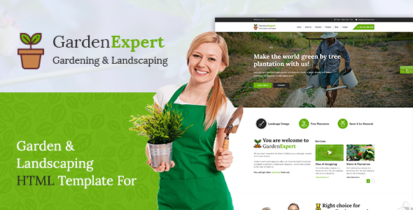 Image of Garden Expert || Garden and Landscaping Responsive HTML5 Template