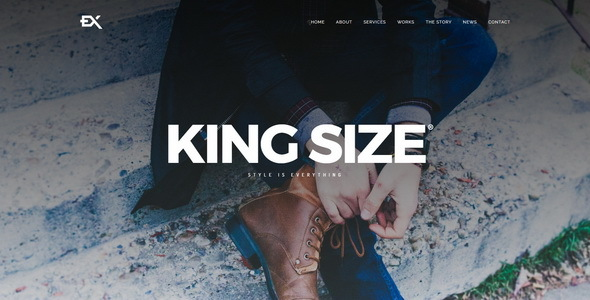 King Size || Creative Portfolio Template