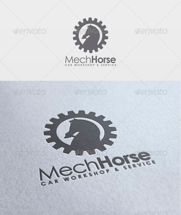 Mech Horse Logo - Animals Logo Templates