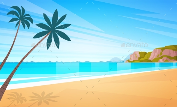 Sea Shore Sand Beach Summer Vacation Blue Sky Sun - Landscapes Nature