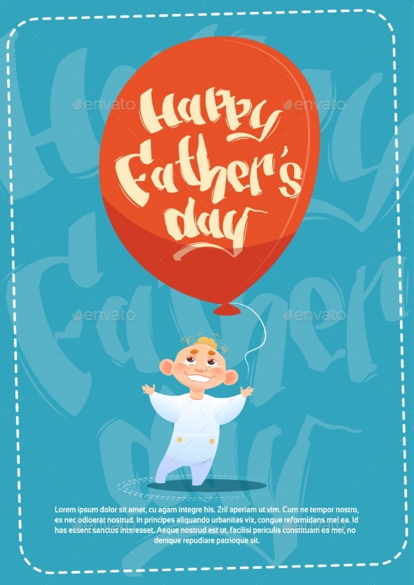 Happy Father Day Family Holiday, Son Hold Air - Miscellaneous Vectors