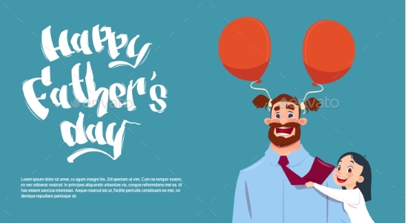 Happy Father Day Family Holiday, Daughter - Miscellaneous Vectors
