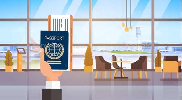 Hand Holding Passport Ticket Boarding Pass Travel - Man-made Objects Objects