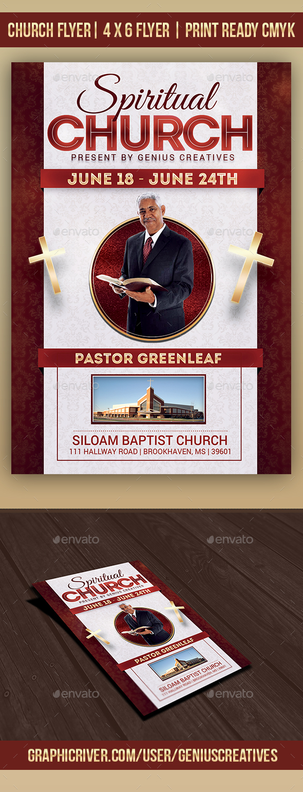Spiritual Church Flyer Template - Church Flyers