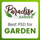 Paradise Garden - Gardening and Landscaping PSD Template - ThemeForest Item for Sale
