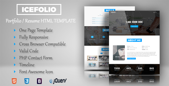 iceFolio – Personal Portfolio HTML5 Template