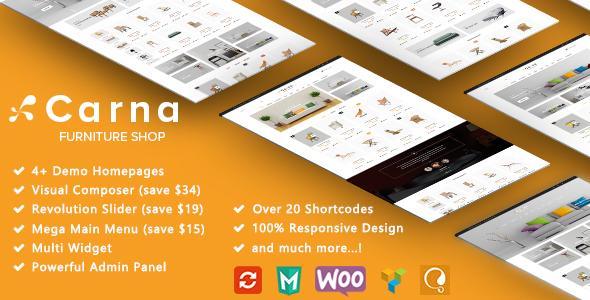 Carna – Furniture Responsive WooCommerce WordPress Theme (WooCommerce) images