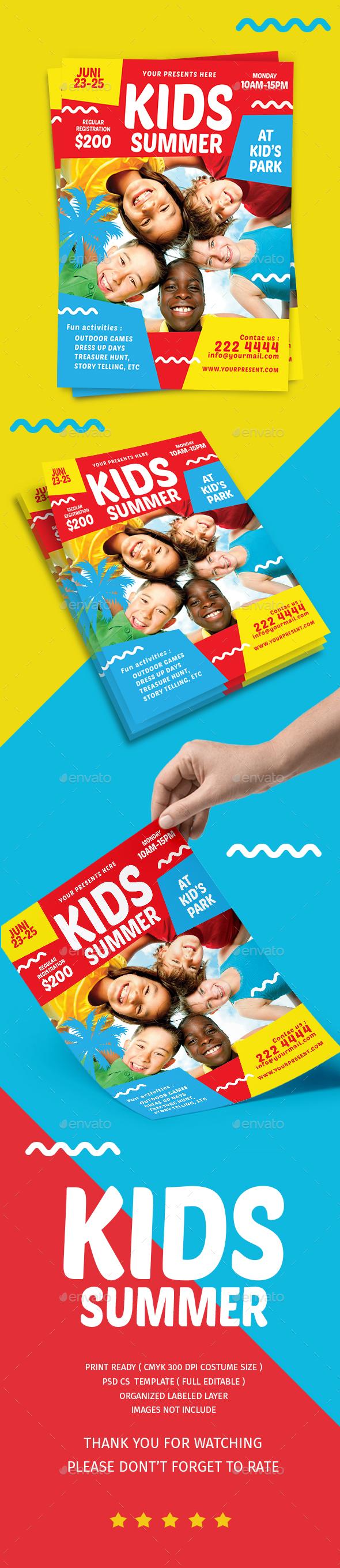 Kids Summer Camp Flyer - Flyers Print Templates