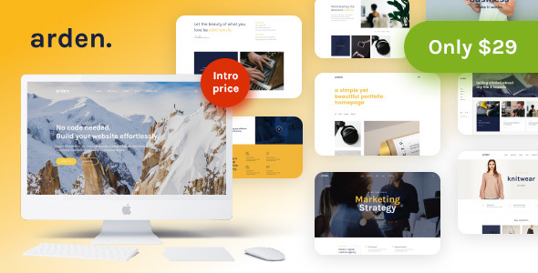 Arden – A Sharp & Modern Multipurpose WordPress Theme