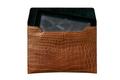 Alligator Skin Pad Bag in brown color