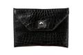 Leather, back alligator  bag