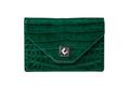 Leather handbag from alligator skin isolated