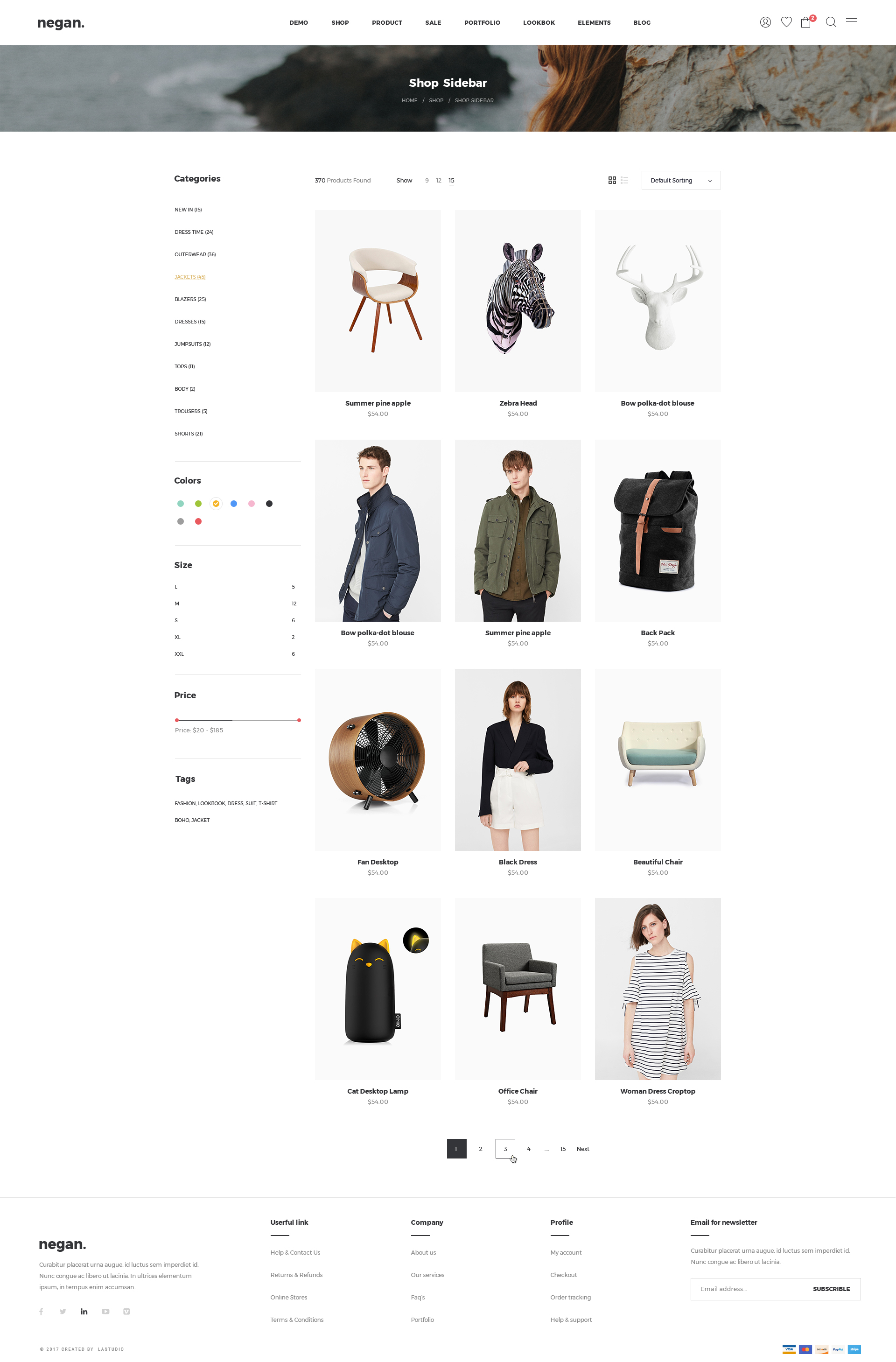 Negan - Clean, Minimal eCommerce PSD Templates by LA