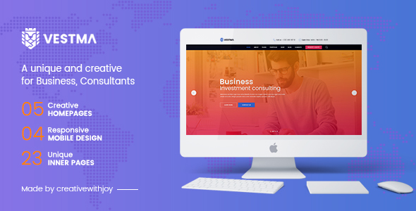 VESTMA – Multipurpose Business, Consulting, Corporate PSD Template