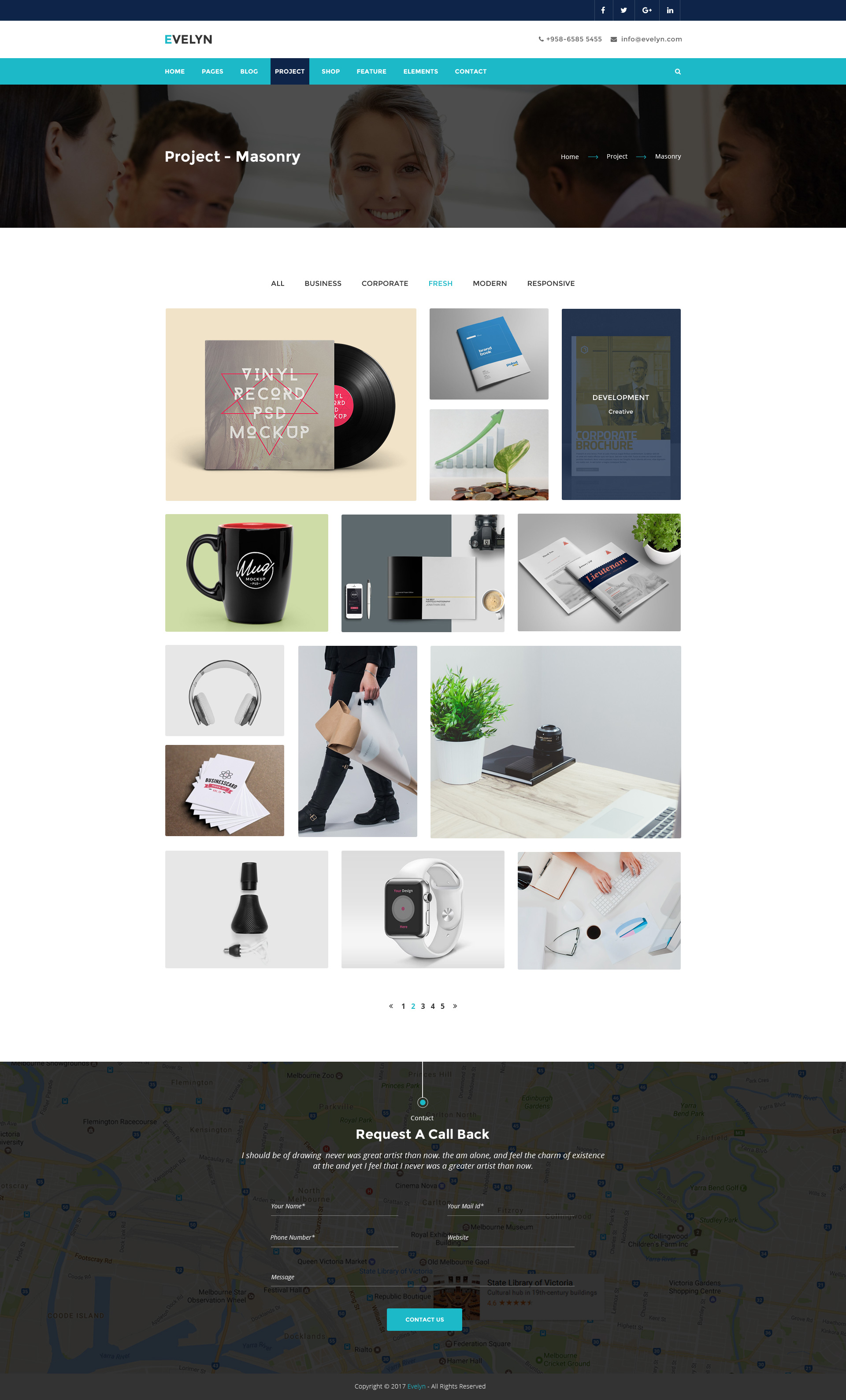 Evelyn | Multipurpose Business and Agency PSD Template by DigitalCarving