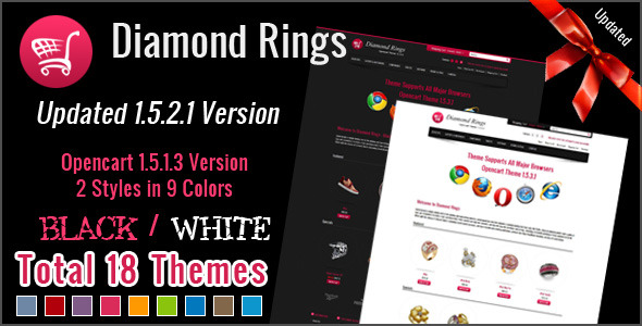 Free Download Diamond Rings OpenCart Theme Nulled Latest Version